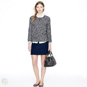 "NWOT Gray JCrew ""Classic Felted Wool Mini Skirt"""